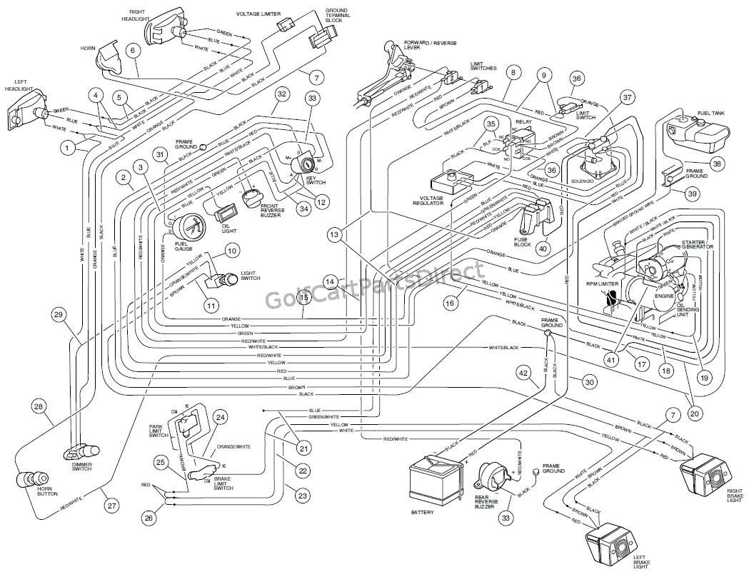 Gas Club Car Charging System Diagram - Wiring Diagrams Hubs - Ez Go Golf Cart Wiring Diagram Gas Engine