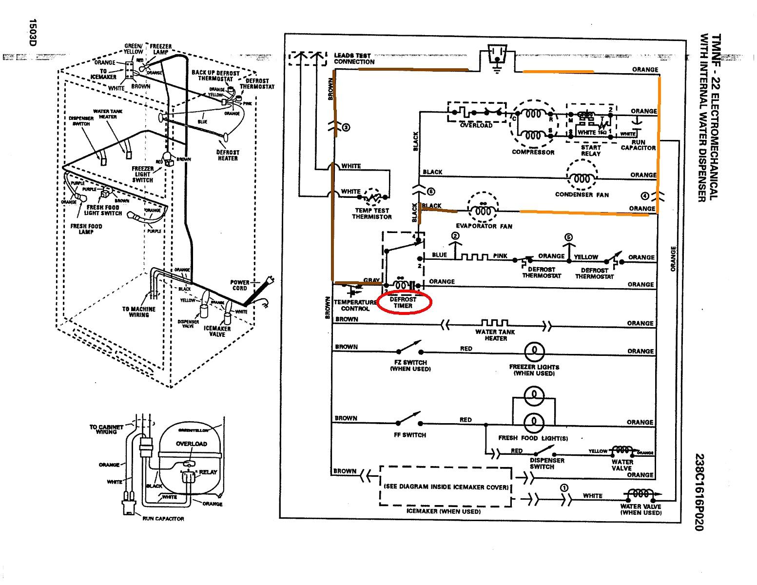 Ge Fridge Schematics - Wiring Diagram Data - Ge Refrigerator Wiring Diagram
