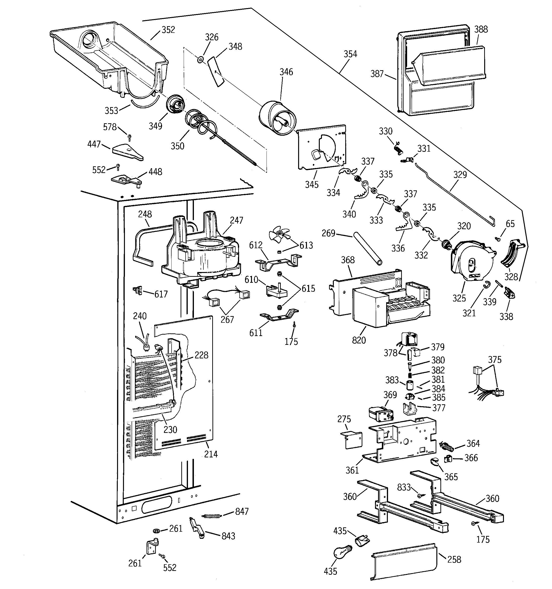 Ge Model Tfx28Pbdabb Side-By-Side Refrigerator Genuine Parts - Ge Refrigerator Wiring Diagram