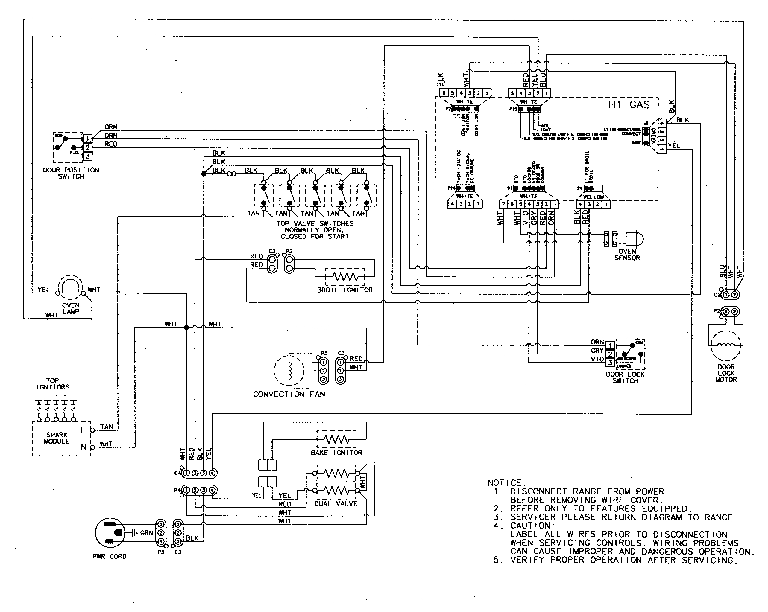 Ge Stove Wiring To Burners - Wiring Diagram Data - Ge Stove Wiring Diagram