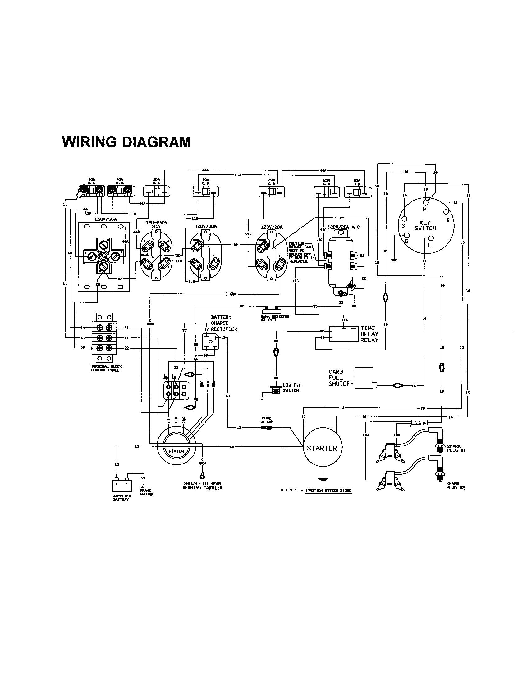 Generac 6500E Generator Wiring Diagram   Manual E-Books - Generac Generator Wiring Diagram
