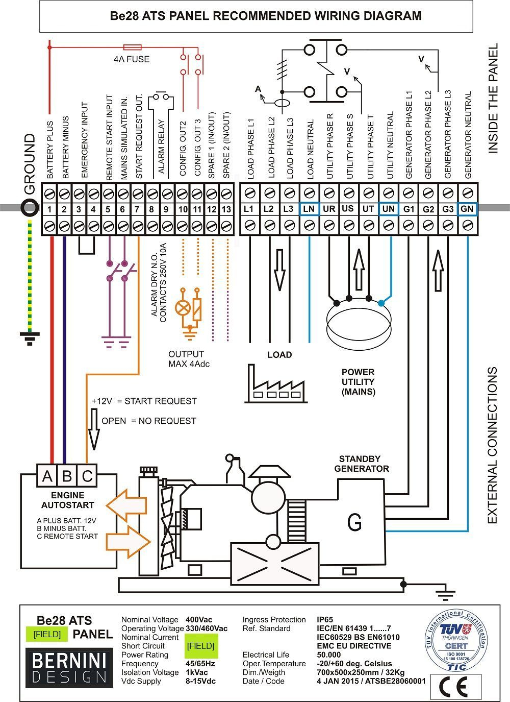 Generac Automatic Transfer Switch Wiring Diagram And Generator - Generac Automatic Transfer Switch Wiring Diagram
