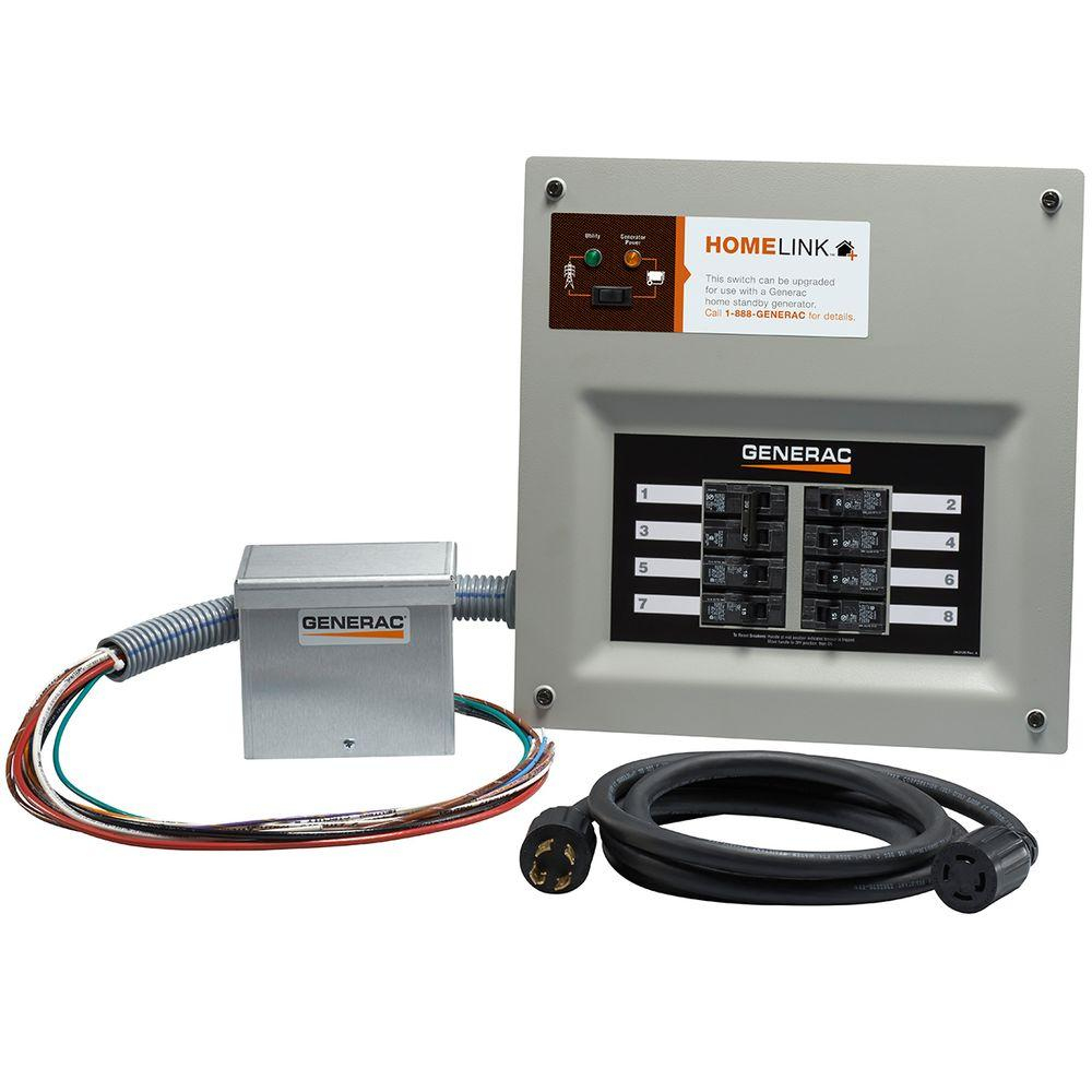 Generac Upgradeable Manual Transfer Switch Kit For 8 Circuits-6854 - Generac Manual Transfer Switch Wiring Diagram
