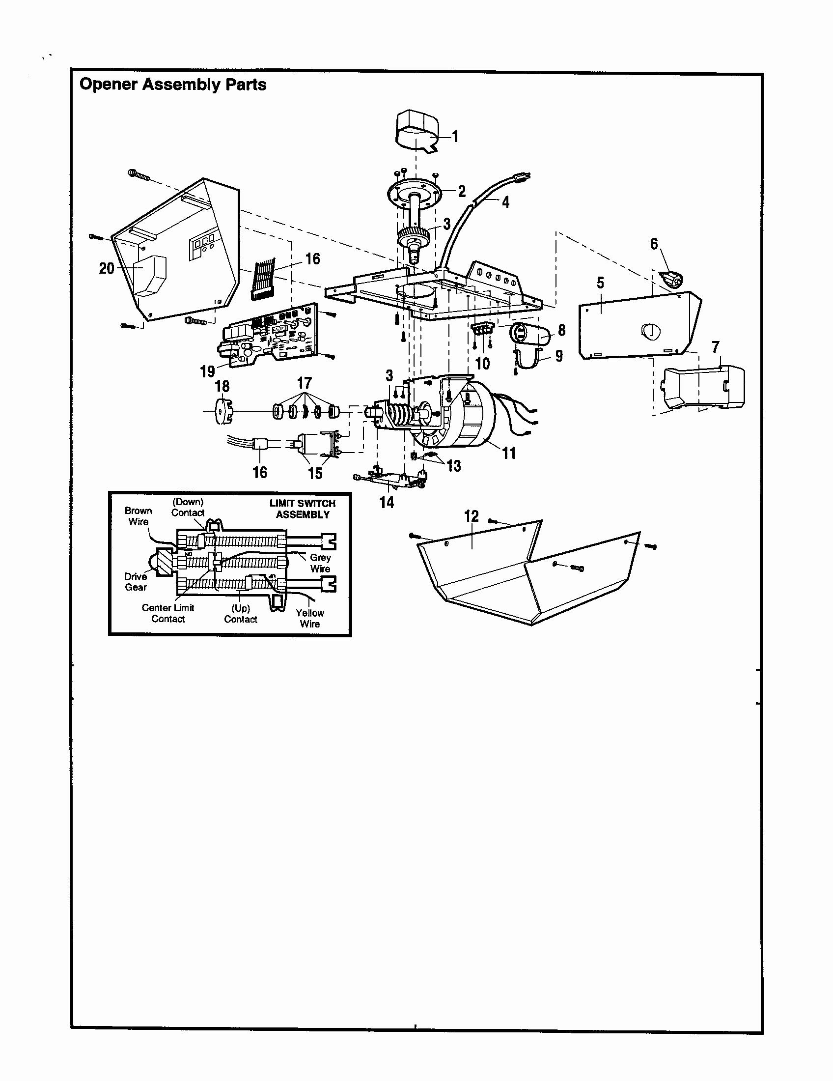 Genie Garage Door Opener Parts Diagram Inspirational 48 Genie Garage - Genie Garage Door Opener Wiring Diagram