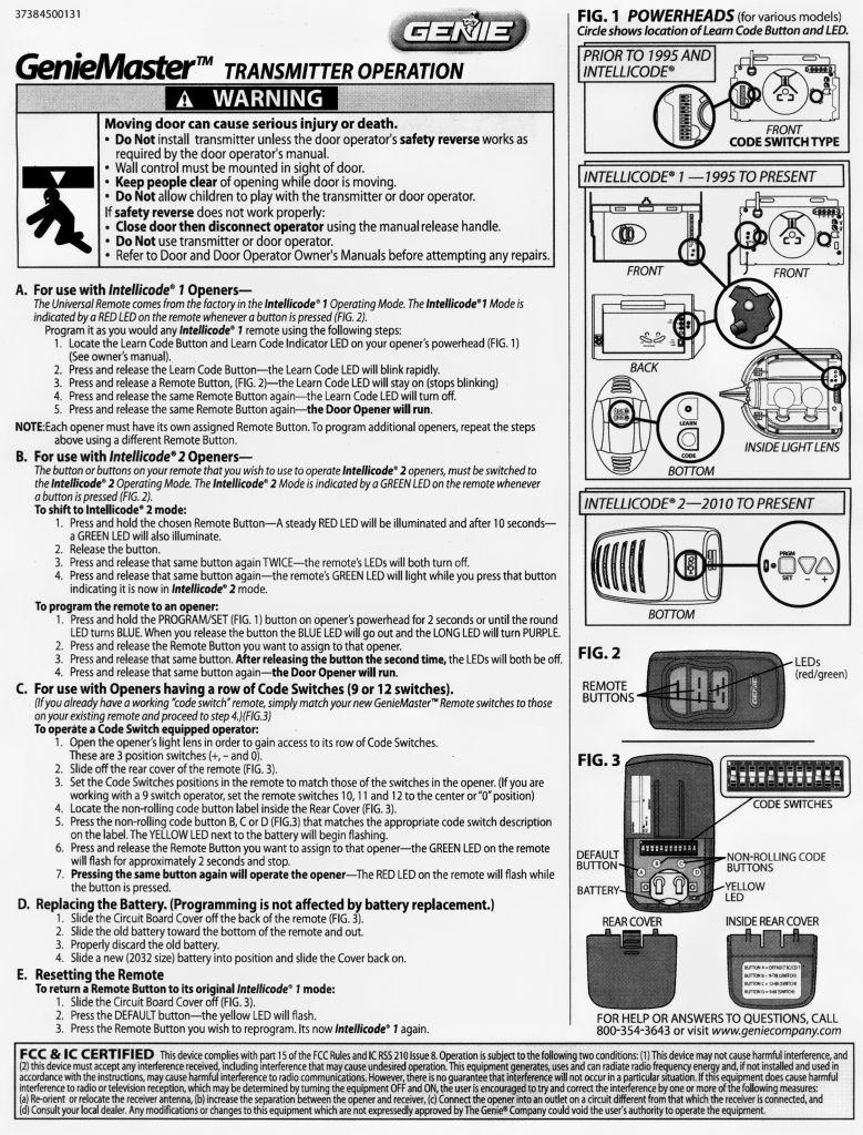 Genie Garage Door Opener Wiring Diagram - Shahsramblings - Genie Garage Door Opener Wiring Diagram
