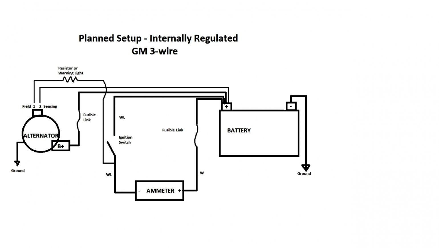 Gm 3 1 Wiring | Wiring Diagram - 2 Wire Alternator Wiring Diagram