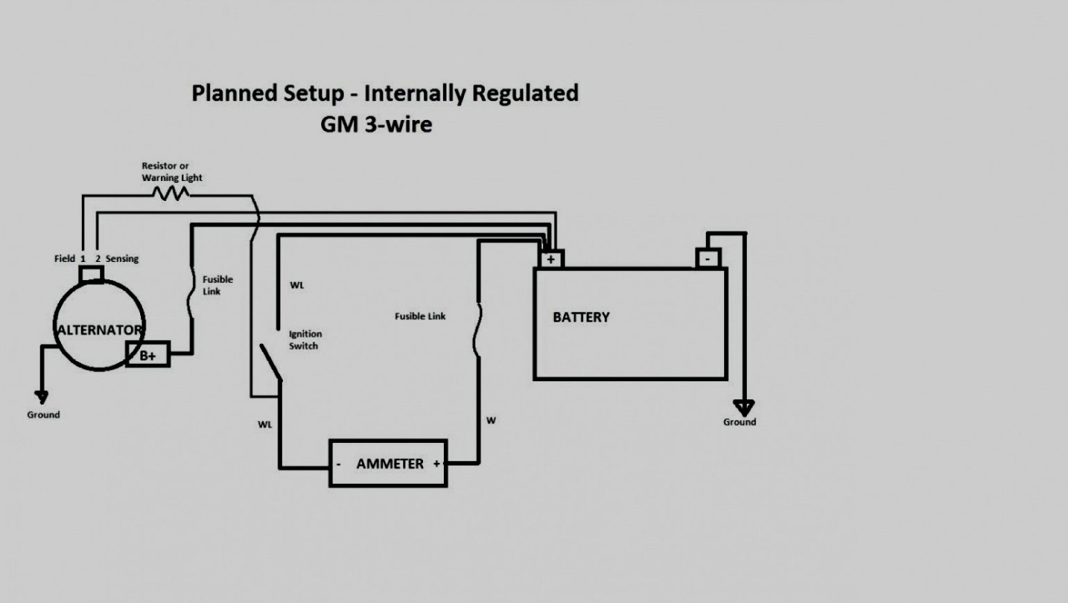 Gm 3 Wire Alternator Wiring Diagram | Wirings Diagram  Pin Internally Regulated Alternator Wiring Diagram on 1 wire alternator wiring, 12 volt alternator wiring, 3 wire alternator wiring, self exciting alternator wiring,