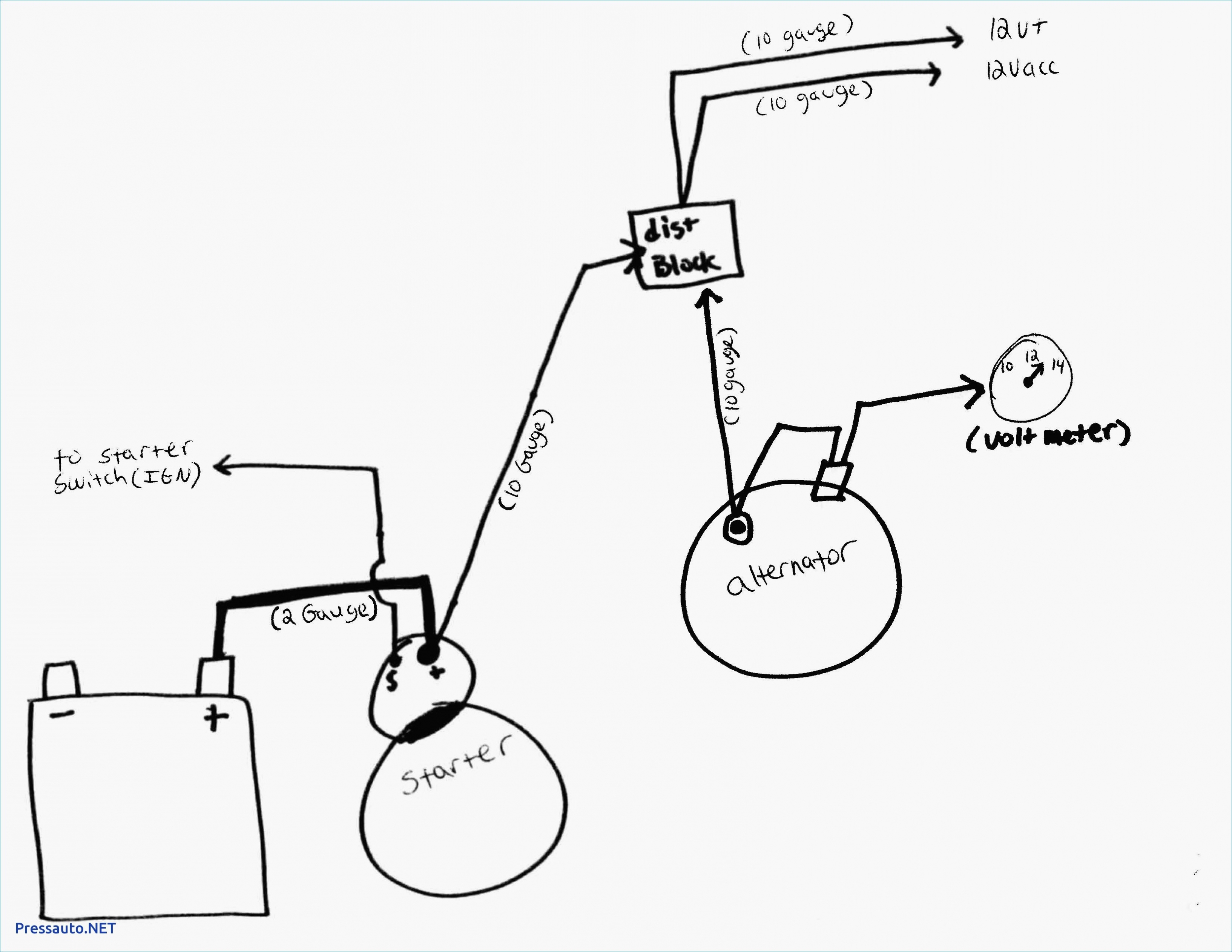 Gm Alternator Wiring Diagram Internal Regulator New Fresh 3 Wire - Gm Alternator Wiring Diagram Internal Regulator