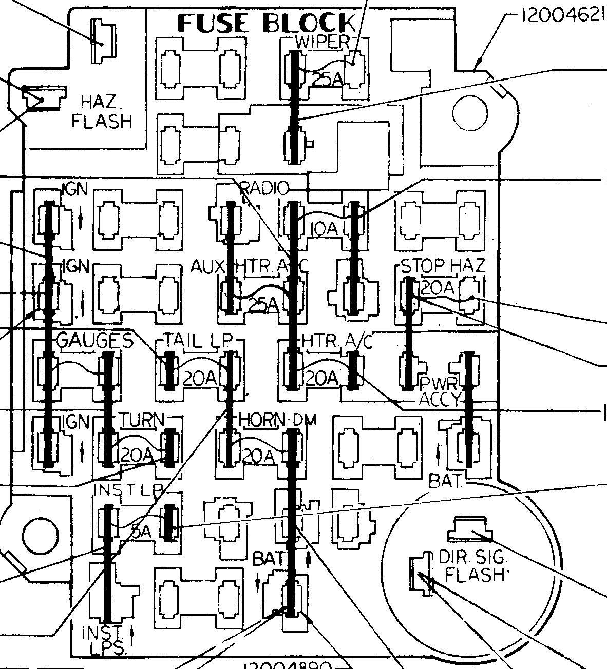 Gm Ato Style Fuse Block - Gm Alternator Wiring Diagram