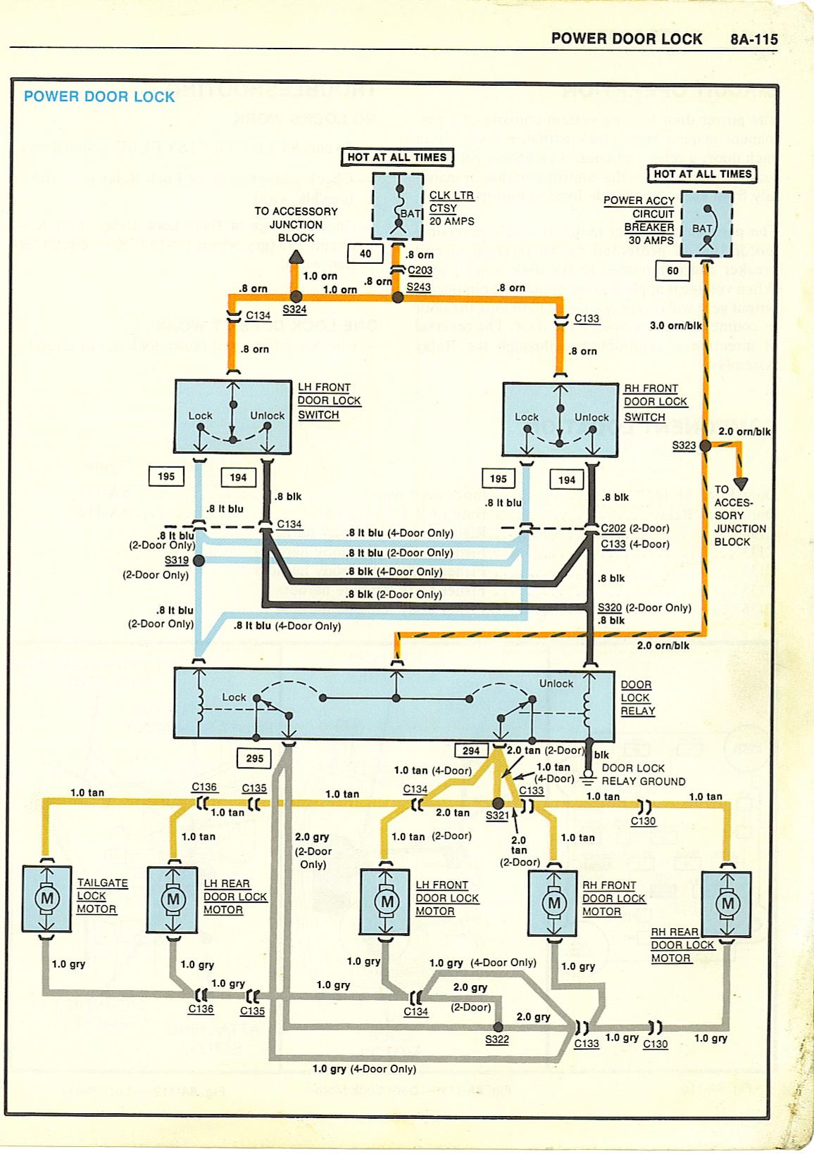 Gm Door Lock Switch Wiring Diagram | Wiring Diagram - Power Door Lock Wiring Diagram