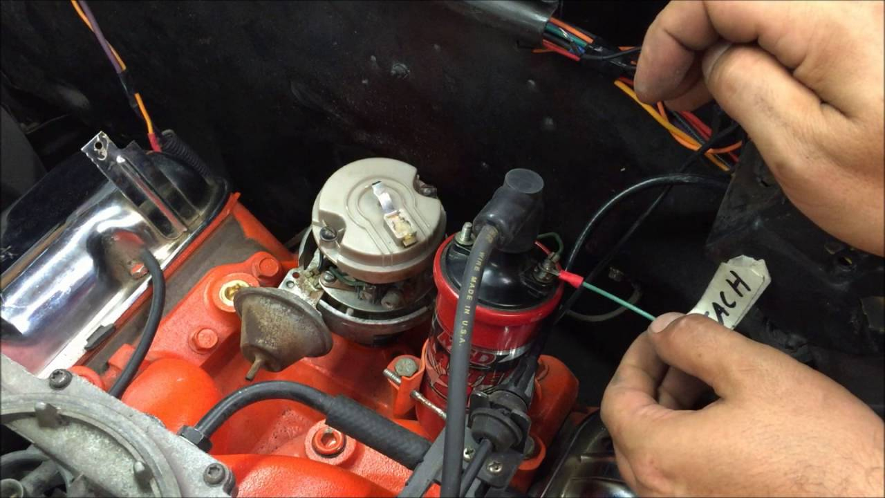 Gm Points Style Ignition Distributor How To Wire And Run Diy - Youtube - Chevy 350 Ignition Coil Wiring Diagram