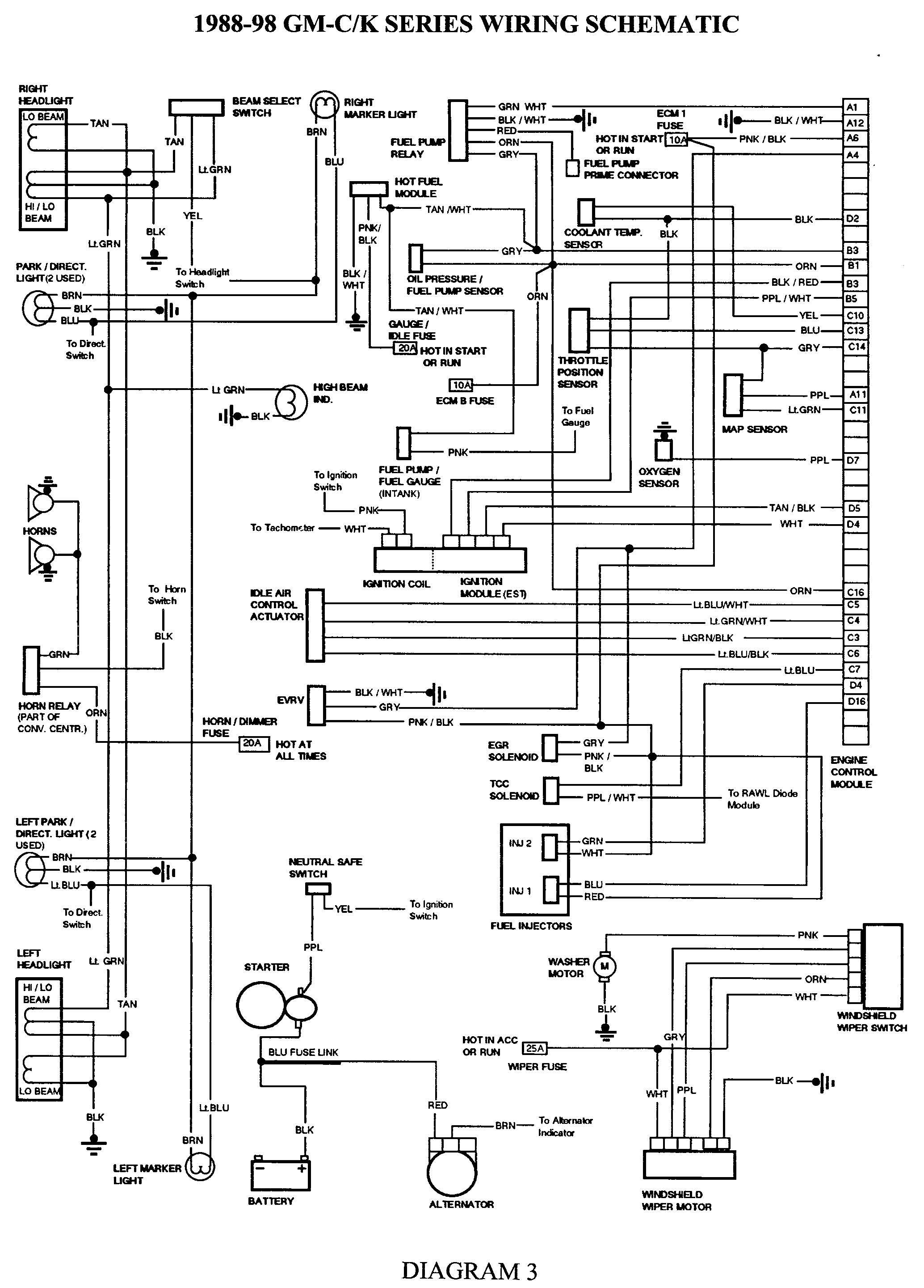 Gmc Truck Wiring Diagrams On Gm Wiring Harness Diagram 88 98 | Kc - Chevy Wiring Harness Diagram