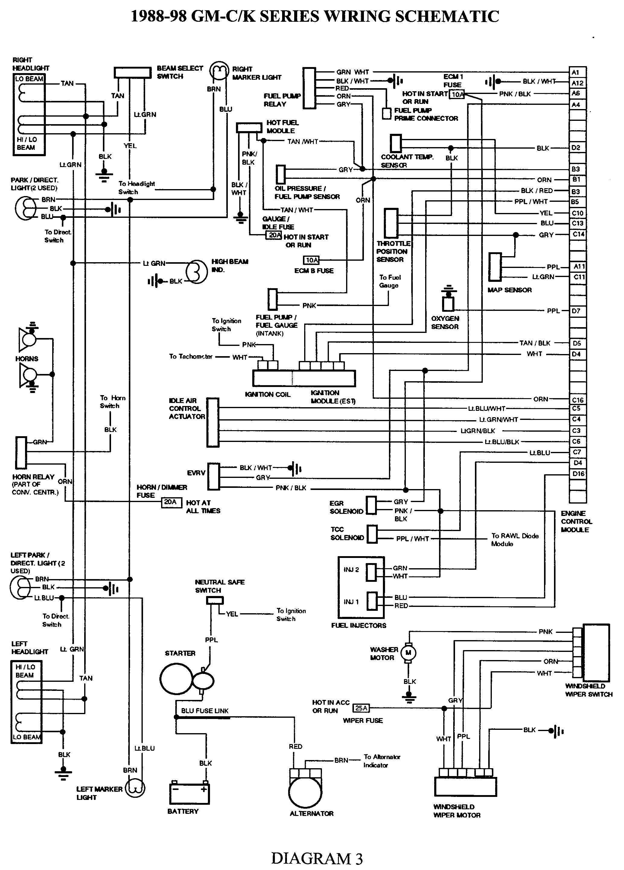 Gmc Truck Wiring Diagrams On Gm Wiring Harness Diagram 88 98 | Kc - Wiring Diagram For 1997 Chevy Silverado