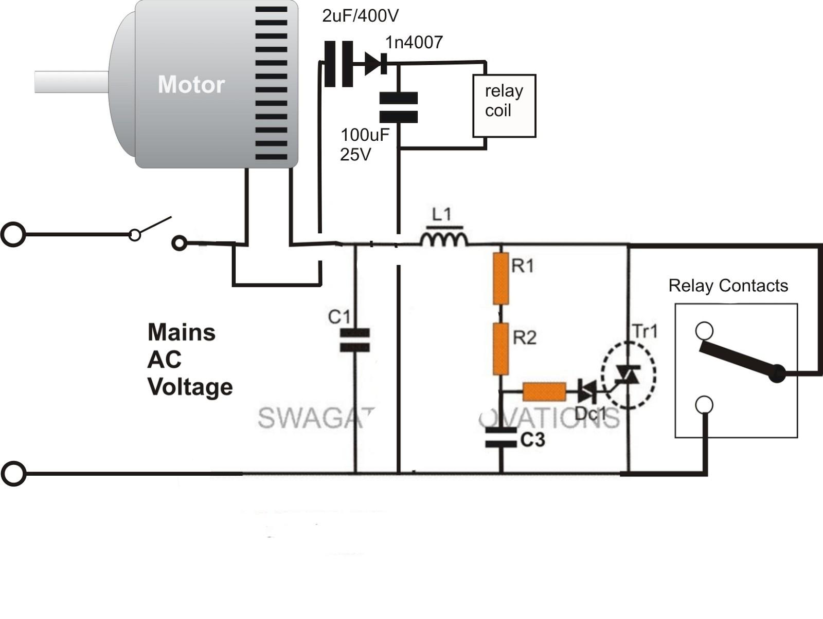 Amazing Motor Run Capacitor Wiring Diagram Wirings Diagram Wiring Cloud Venetbieswglorg