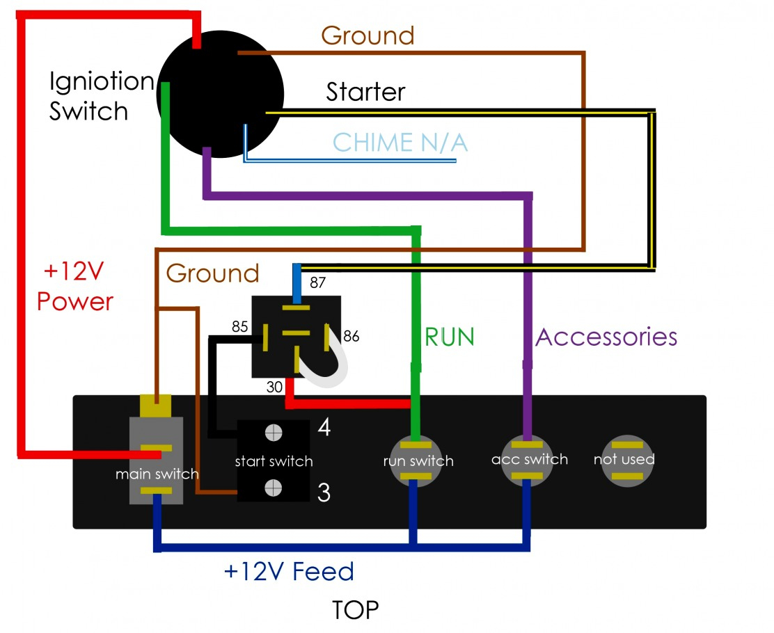 Great Of Starter Switch Wiring Diagram Ignition Data - Push Button Switch Wiring Diagram