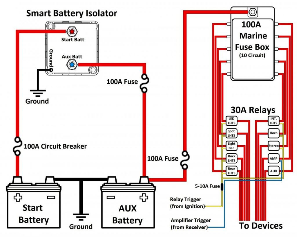 Guest Battery Isolator Wiring Diagram | Wiring Diagram   12V Battery Isolator Wiring Diagram