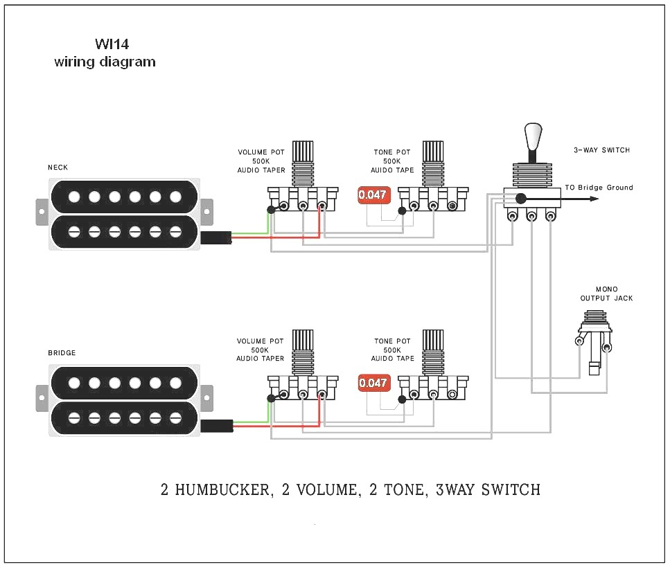 Guitar Wiring Diagrams 2 Pickups 2 Volume Fender Precision Bass - Jazz Bass Wiring Diagram