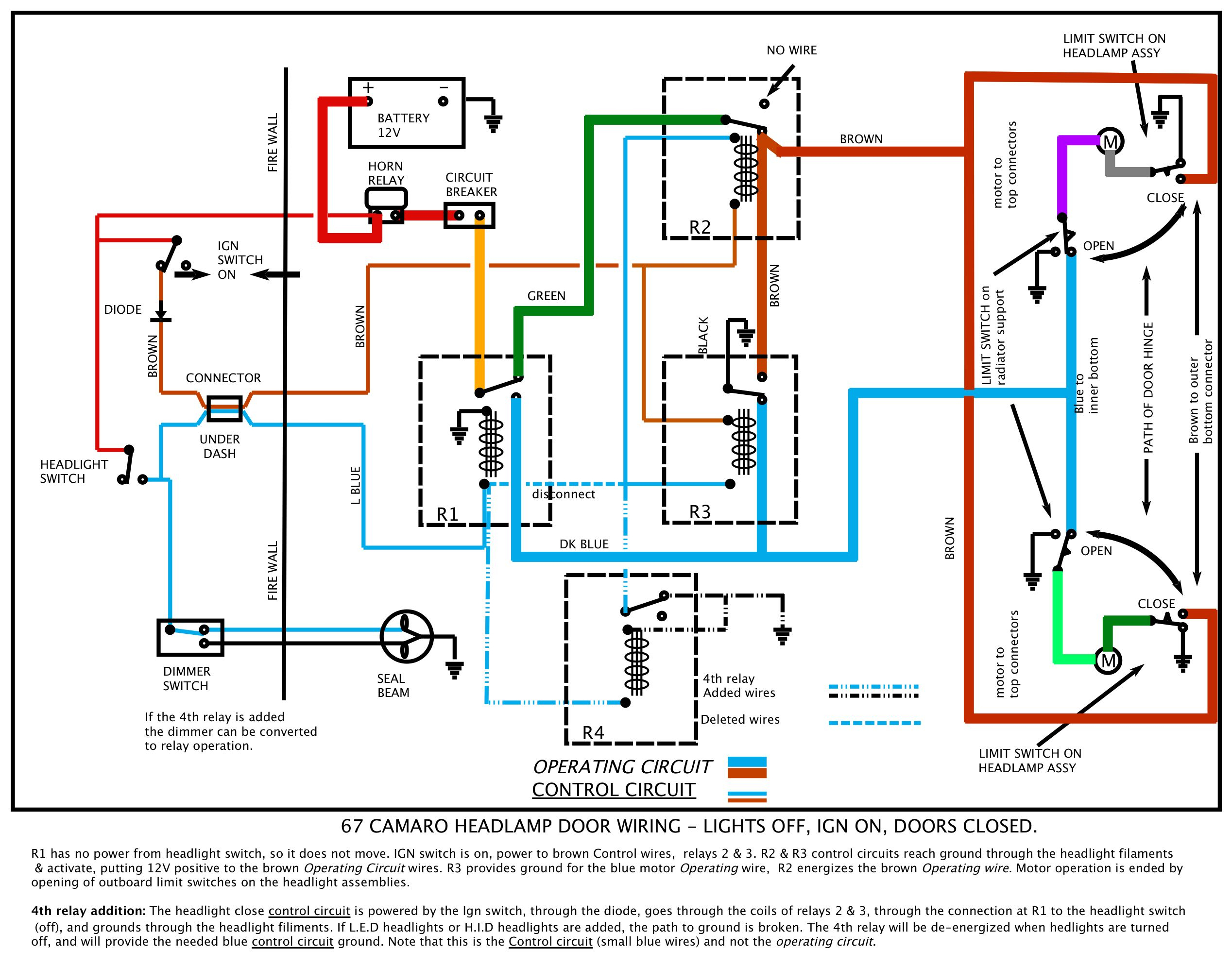 H4 Wiring Upgrade Diagram 67 Camaro | Wiring Diagram - H4 Wiring Diagram