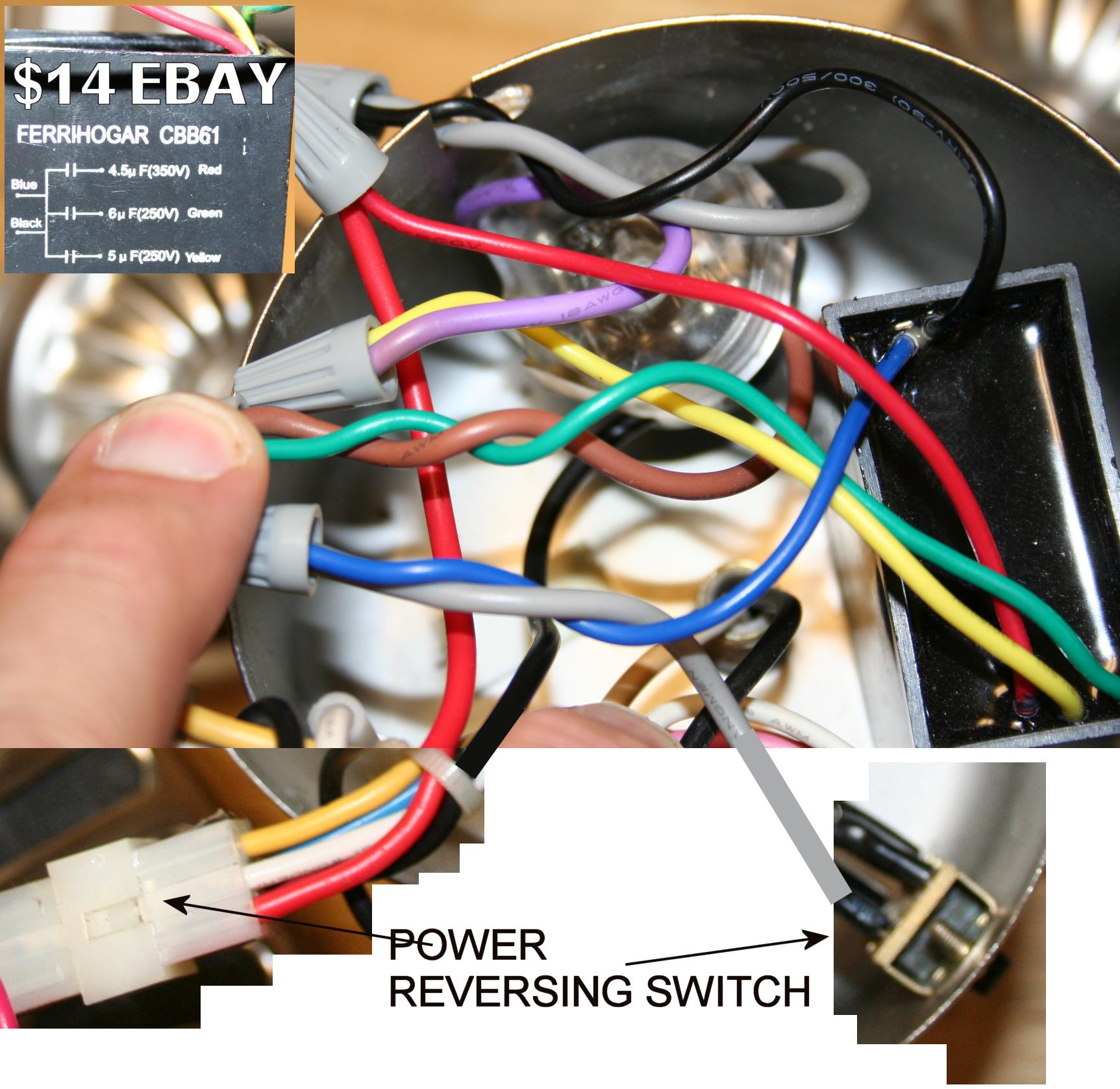 Hampton Bay Ceiling Fan Capacitor Wiring | Wiring Diagram - 5 Wire Ceiling Fan Capacitor Wiring Diagram