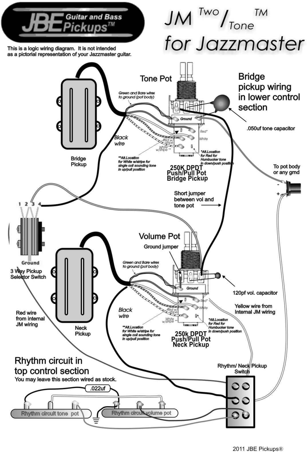 Hb And Hb Two Tone Humbucker Pickups | Jbe Pickups - Pickup Wiring Diagram