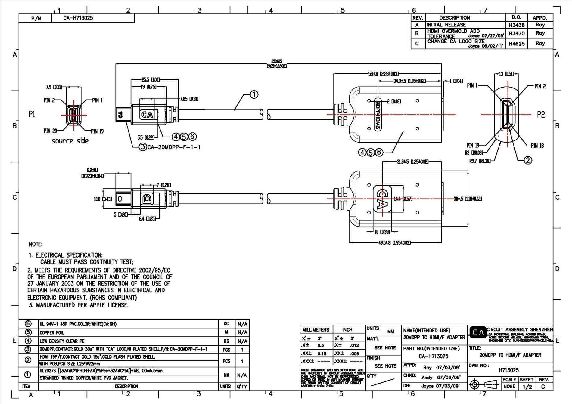 Hdmi To Vga Pinout Diagram | Manual E-Books - Hdmi To Vga Wiring Diagram