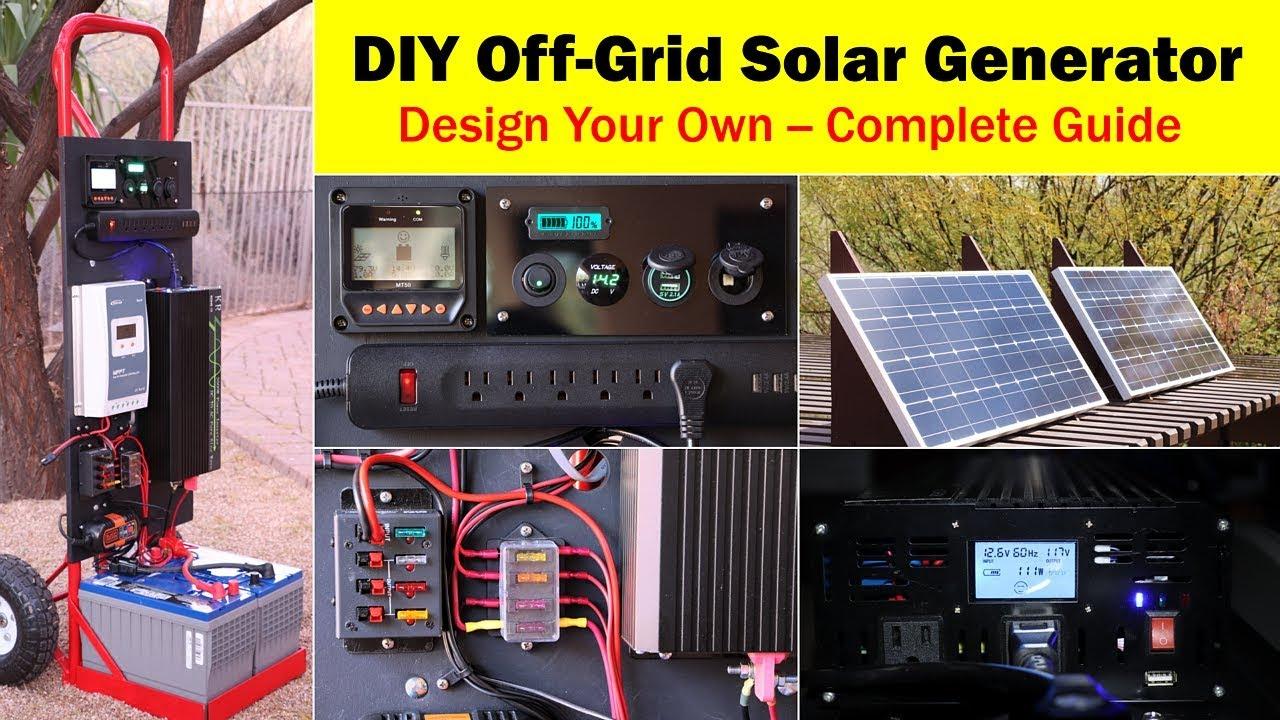 High-Capacity Off-Grid Solar Generator (Rev 4) -- Wiring Diagram - Off Grid Solar System Wiring Diagram