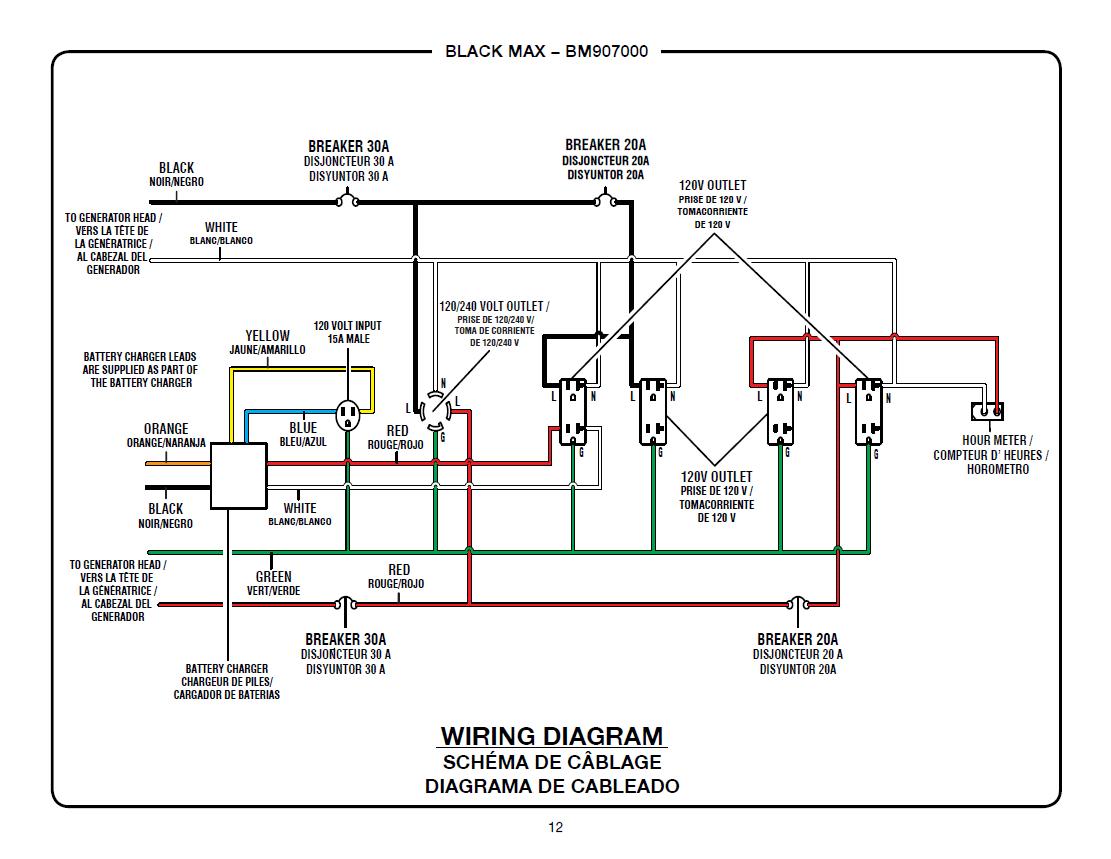 Homelite Generator Wiring Diagram | Manual E-Books - Generator Wiring Diagram