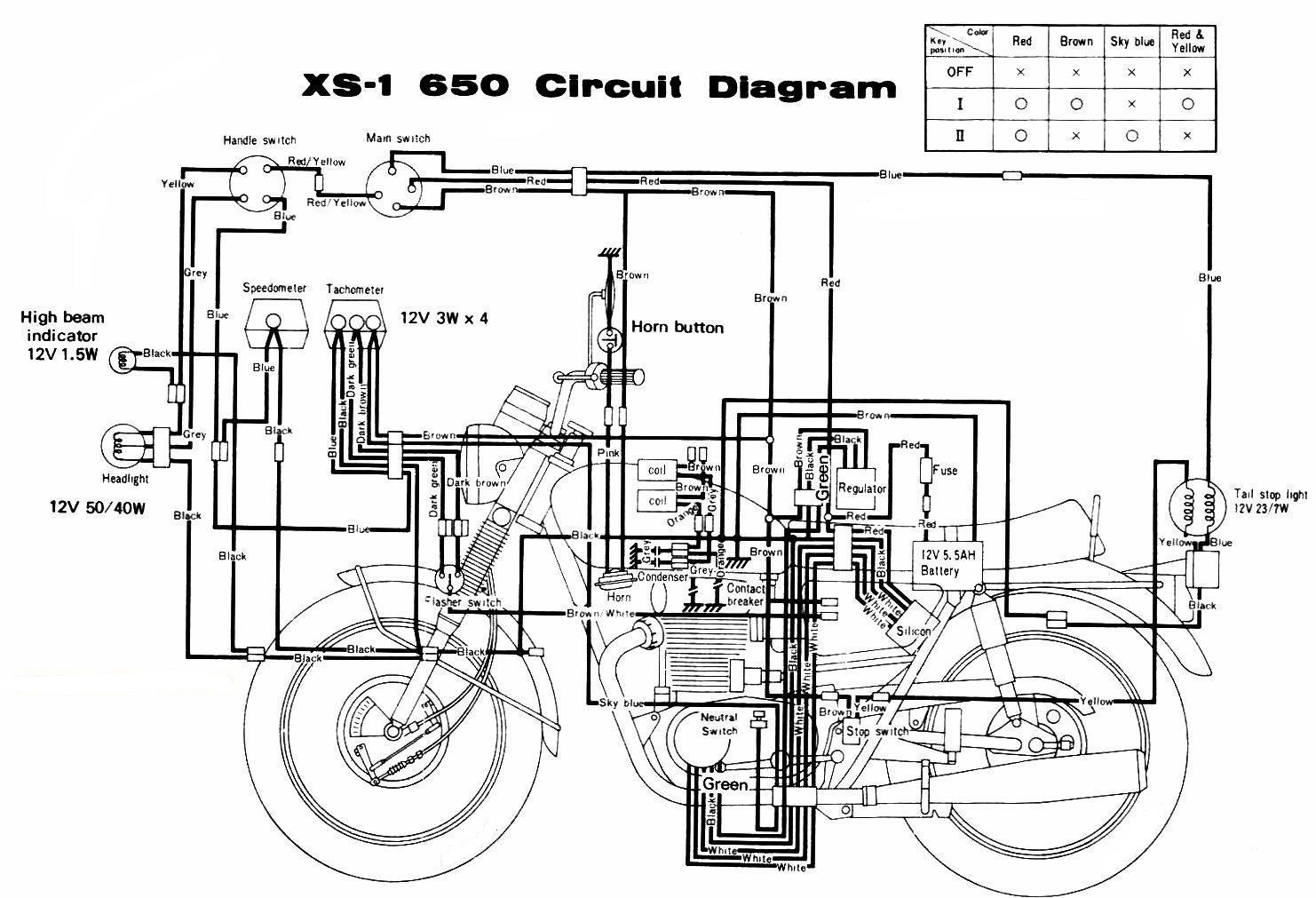 Honda Motorcycle Electrical Wiring Diagram | Manual E-Books - Honda Motorcycle Wiring Diagram