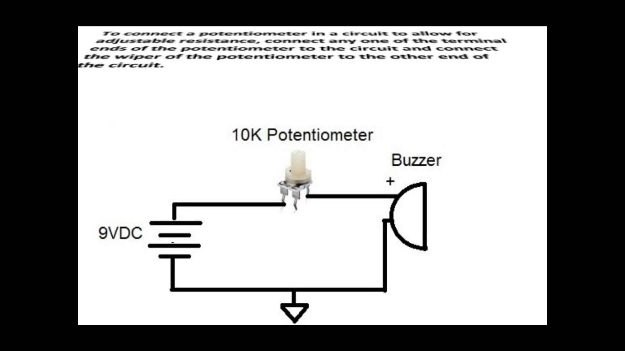 How To Connect A Potentiometer In A Circuit - Youtube - Potentiometer Wiring Diagram