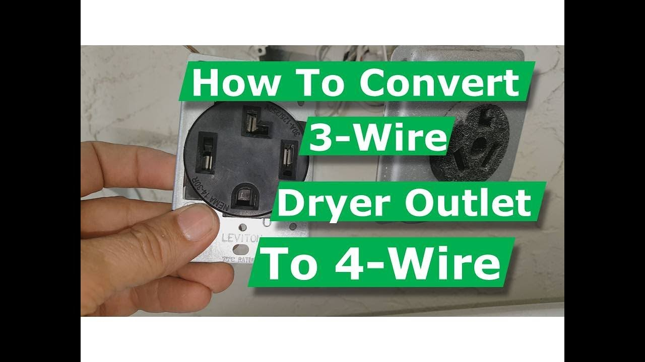 How To Convert 3 Wire Dryer Electrical Outlet To 4 Wire - Youtube - 3 Wire 220 Volt Wiring Diagram