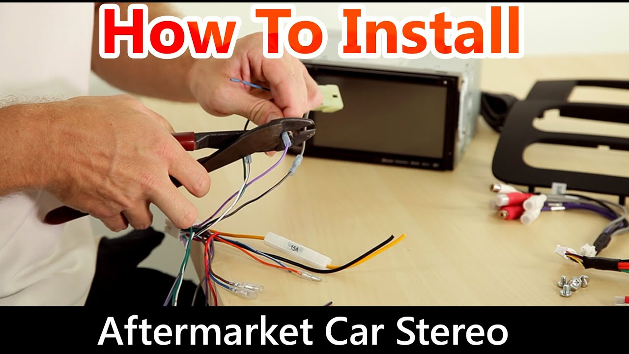 How To Correctly Install An Aftermarket Car Stereo, Wiring Harness - 7010B Stereo Wiring Diagram