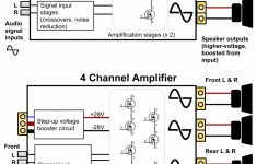 How To Hook Up A 4 Channel Amp To Front And Rear Speakers   Car Amplifier Wiring Diagram Installation