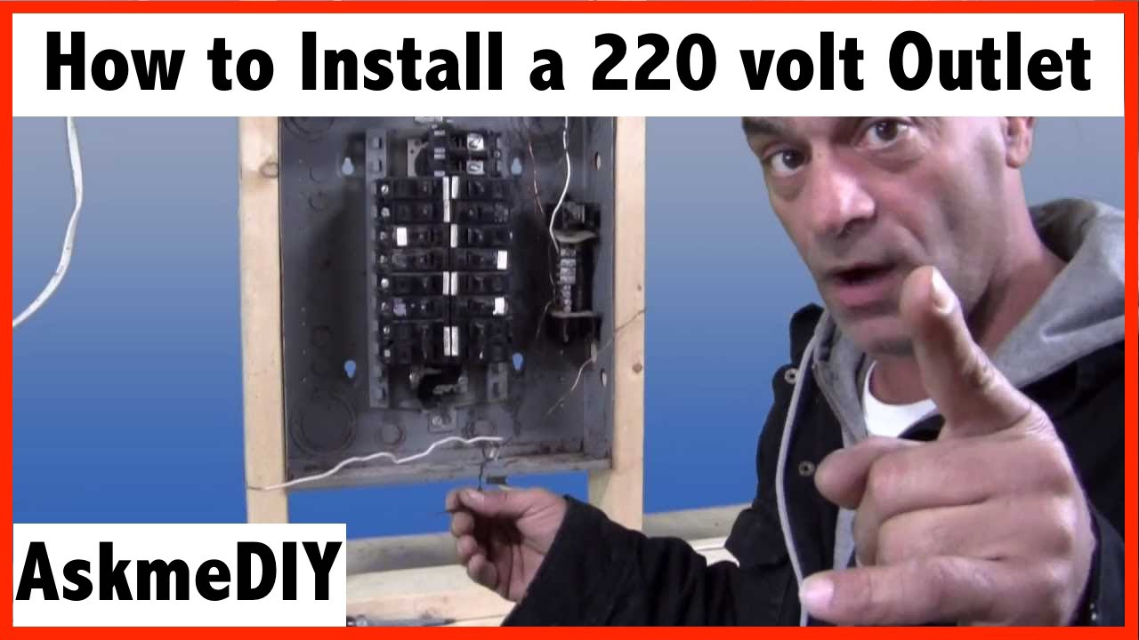 How To Install A 220 Volt Outlet. - Youtube - 220 To 110 Wiring Diagram