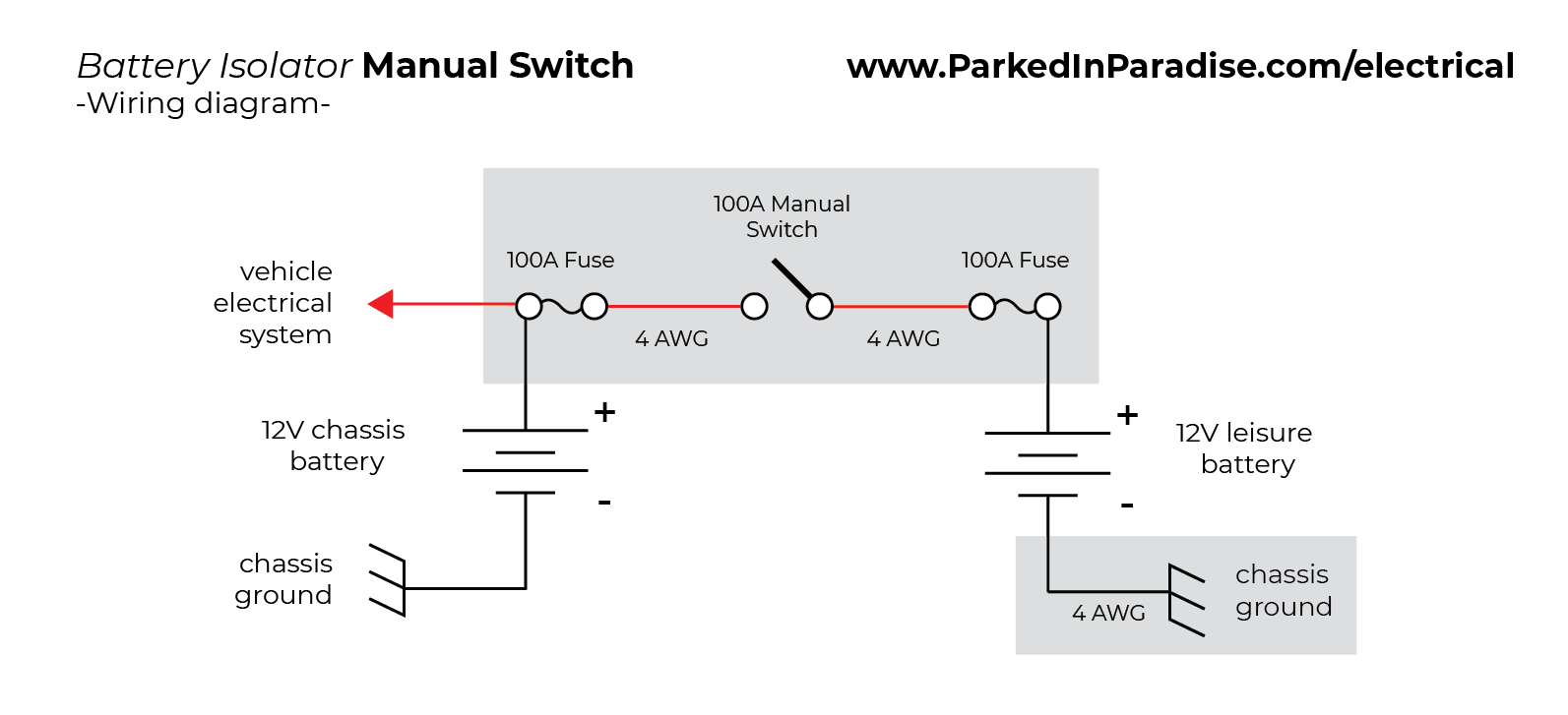 How To Install A Battery Isolator In Your Conversion Van | Parked In - 12V Battery Isolator Wiring Diagram
