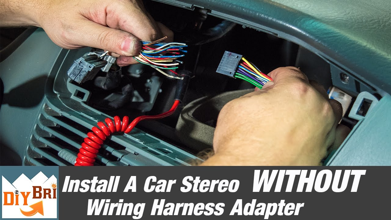 How To Install A Radio Without A Wiring Harness Adapter - Youtube - 2004 Pontiac Grand Prix Radio Wiring Diagram