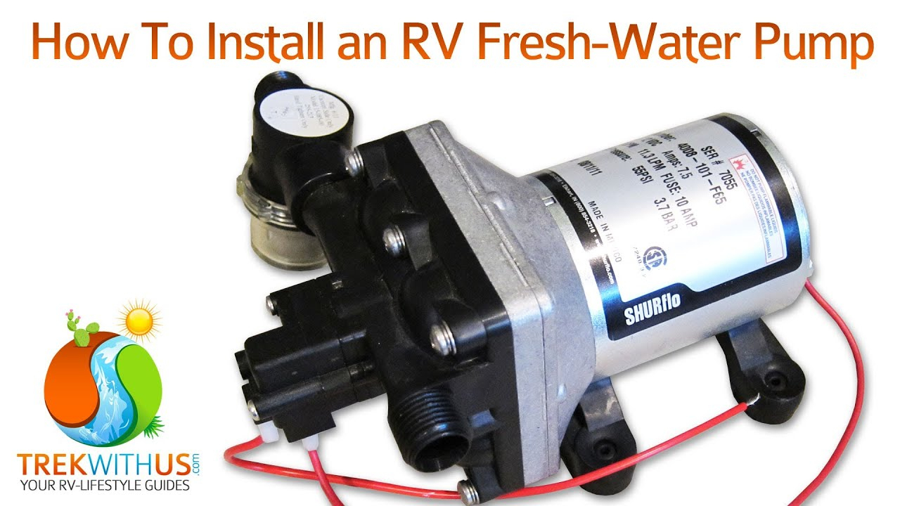 How To Install A Shurflo Fresh Water Pump - Rv Diy - Youtube - Shurflo Water Pump Wiring Diagram