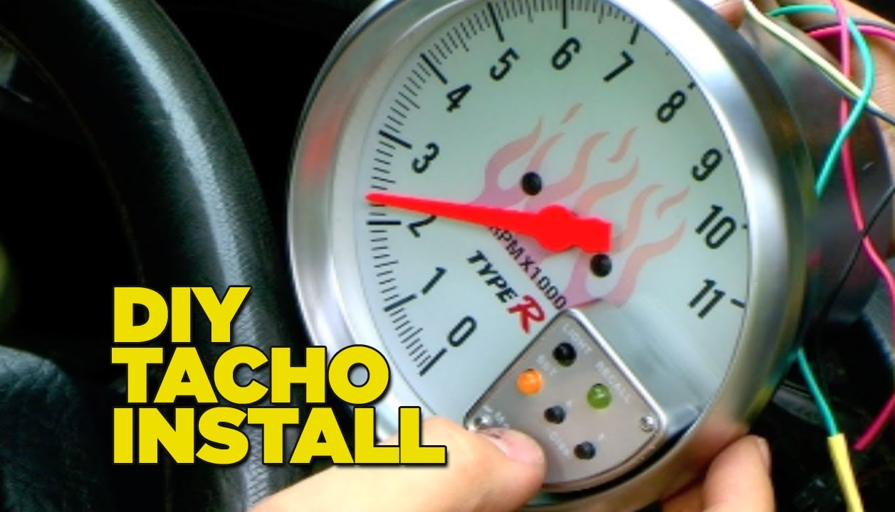 How To Install A Tacho Gauge - Youtube - Tach Wiring Diagram