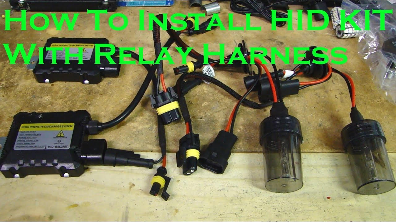 How To Install Hid Kit Light With Relay Harness - Youtube - Hid Wiring Diagram With Relay