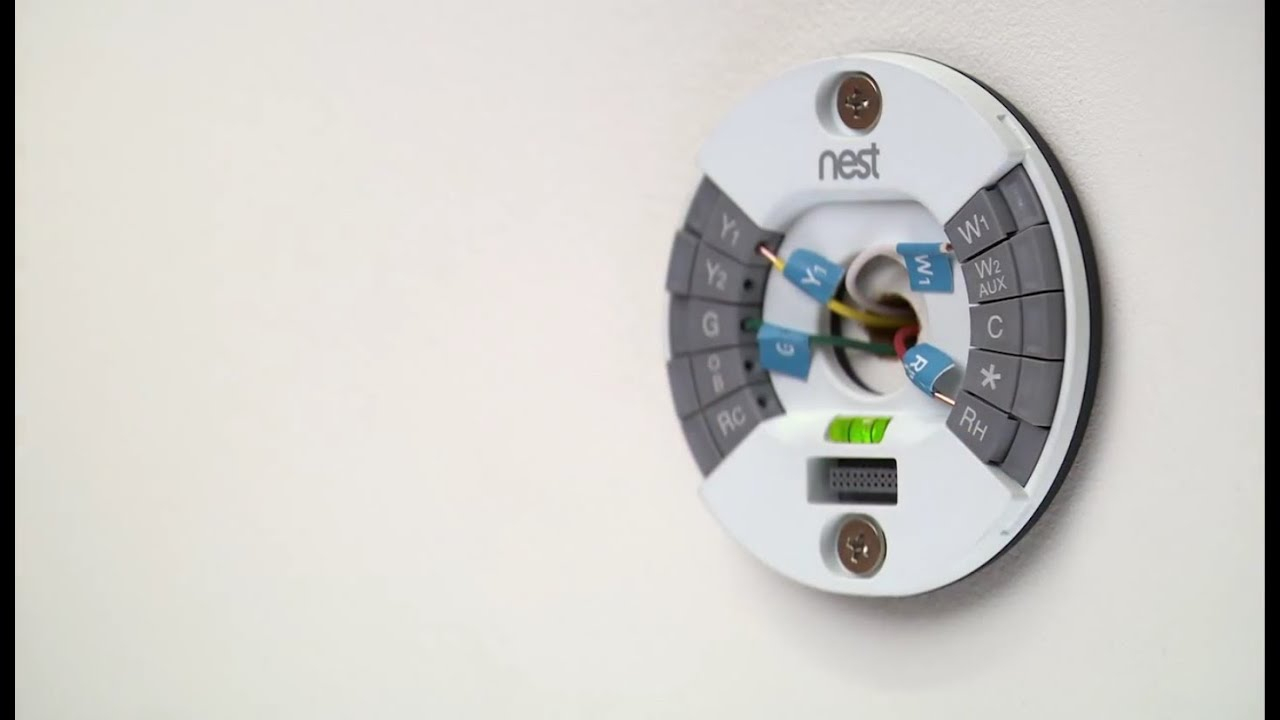 How To Install The 2Nd Gen Nest Learning Thermostat - Youtube - Nest Thermostat Wiring Diagram