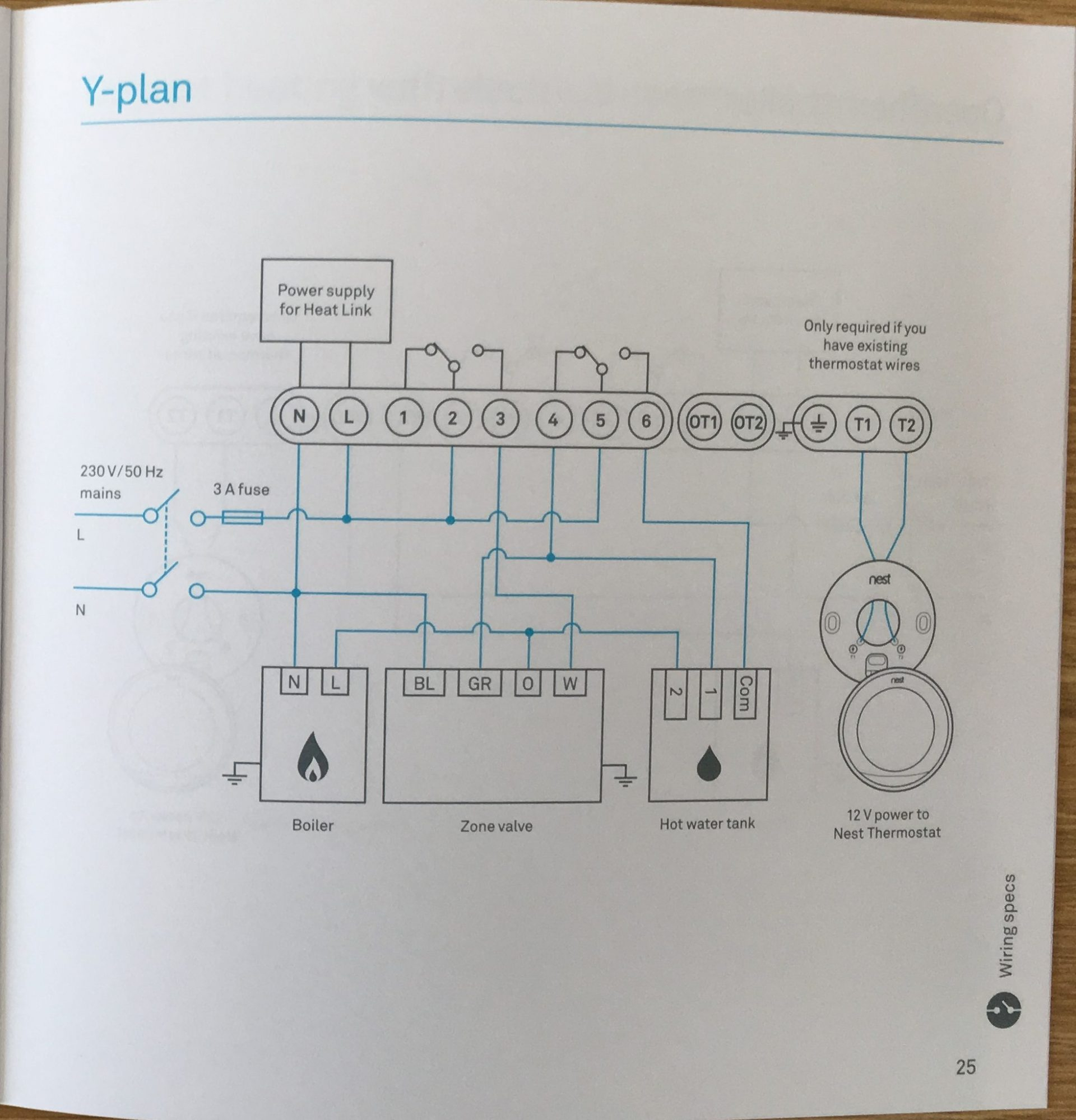 How To Install The Nest Learning Thermostat (3Rd Gen) In A Y-Plan - Nest Thermostat Wiring Diagram