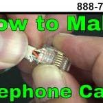 How To Make A Telephone Cable   Usoc Rj11 Rj45   Youtube   Cat5 Phone Line Wiring Diagram