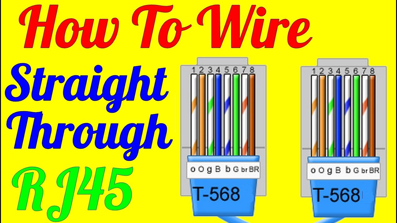 How To Make Straight Through Cable Rj45 Cat 5 5E 6 ( Wiring Diagram - Cat 5 Cable Wiring Diagram