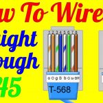 How To Make Straight Through Cable Rj45 Cat 5 5E 6 ( Wiring Diagram   Cat 5 Wiring Diagram B