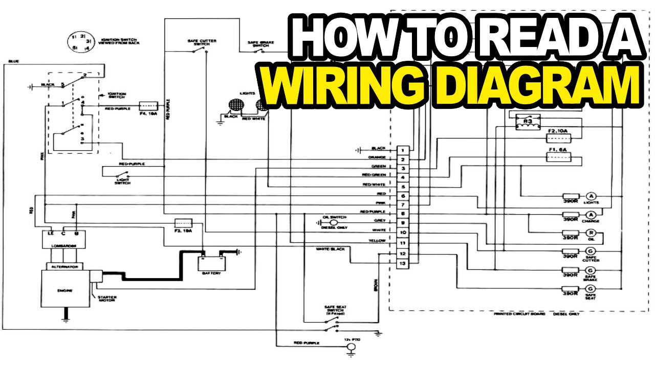 How To: Read An Electrical Wiring Diagram - Youtube - How To Read A Wiring Diagram