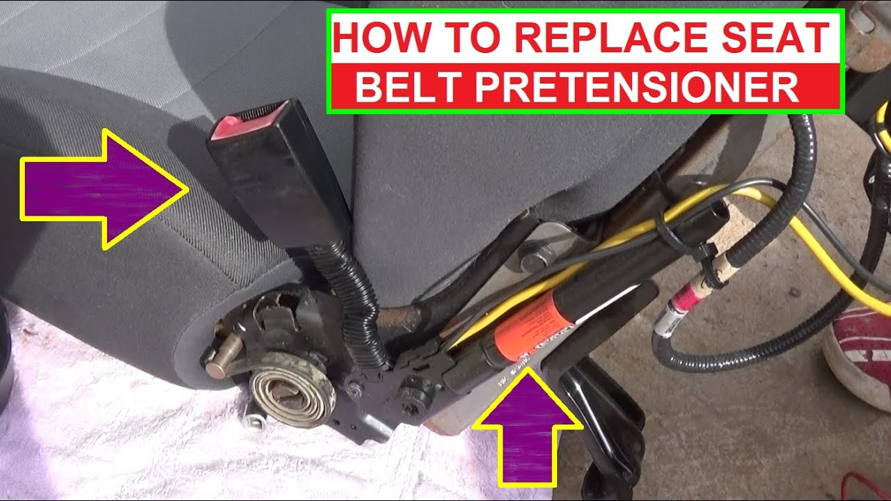 how to remove and replace seat belt pretensioner  demonstrated on ford  escape / mercury mariner – mercury 8 pin wiring harness diagram