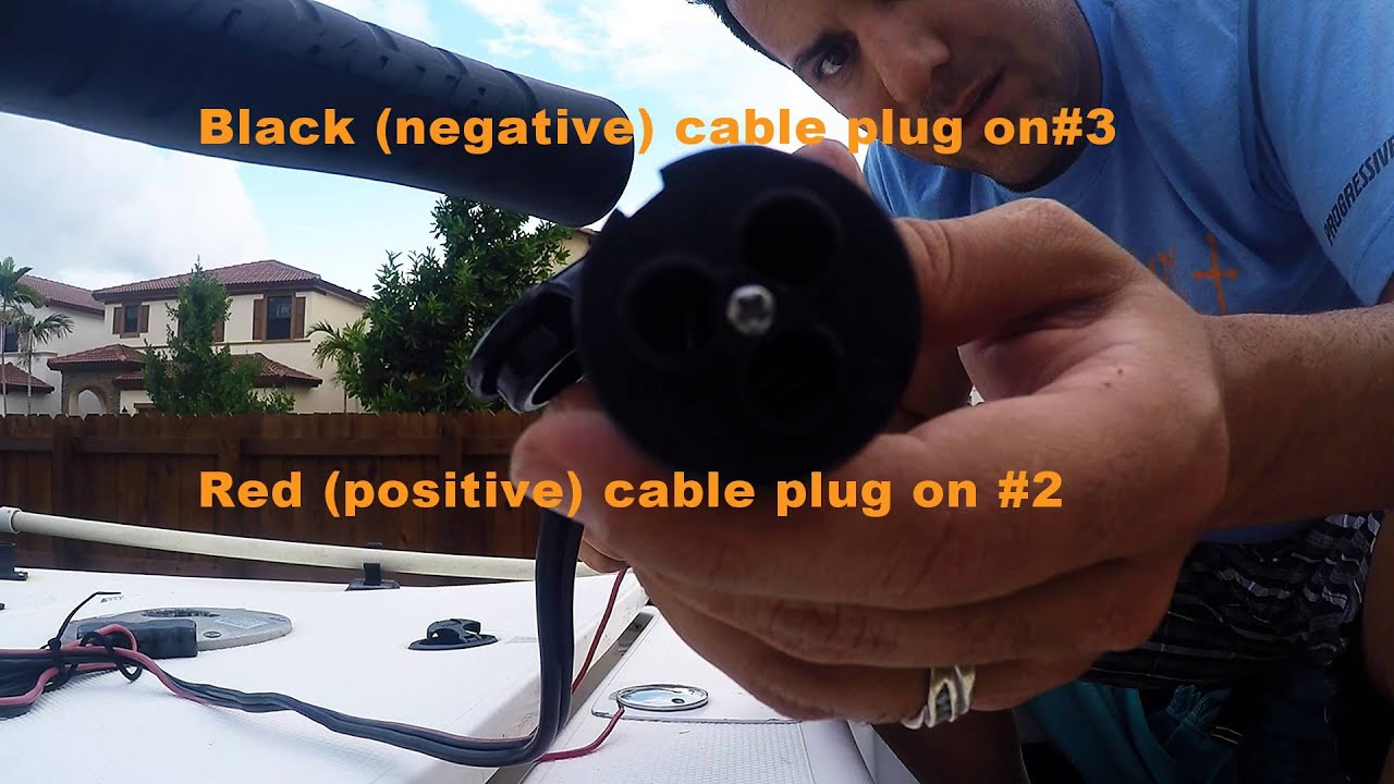 How To Replace Trolling Motor Receptacle - Youtube - Minn Kota Trolling Motor Plug And Receptacle Wiring Diagram