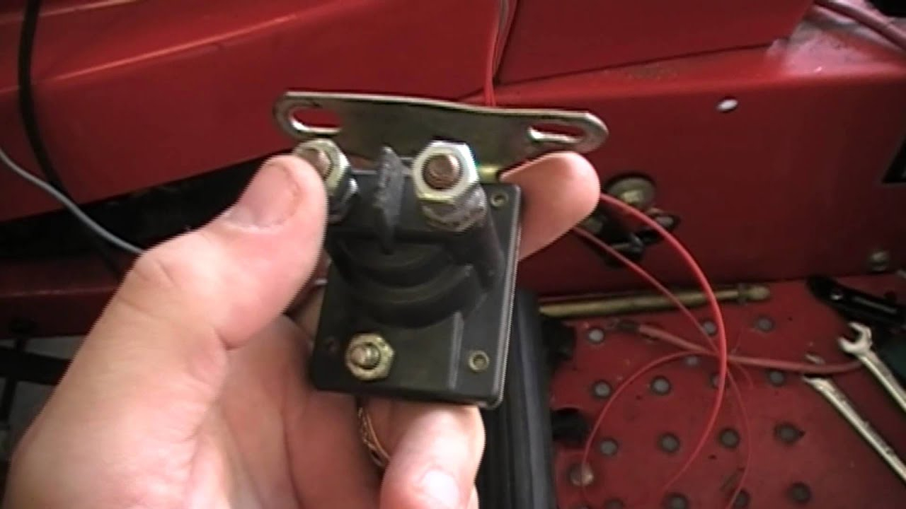 How To Rewire A Riding Lawn Mower Super Easy - Youtube - Briggs And Stratton Starter Solenoid Wiring Diagram