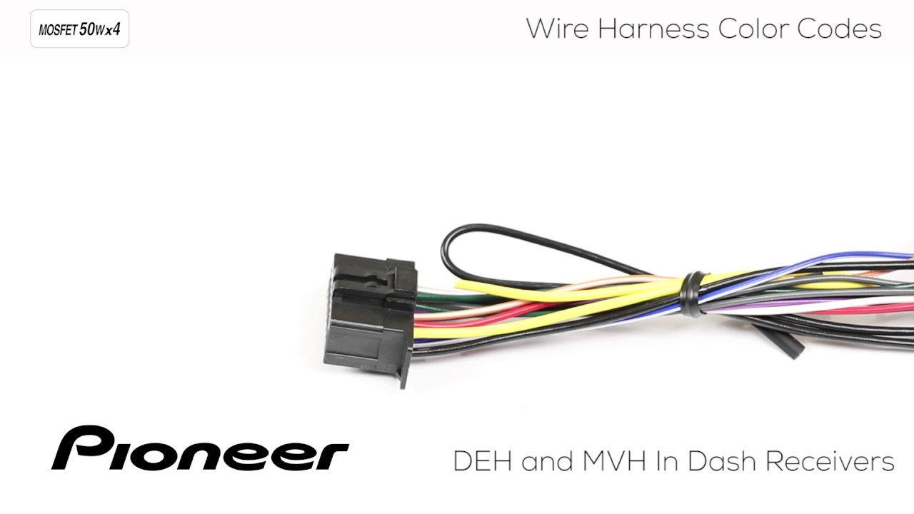 How To - Understanding Pioneer Wire Harness Color Codes For Deh And - Pioneer Mvh-291Bt Wiring Diagram