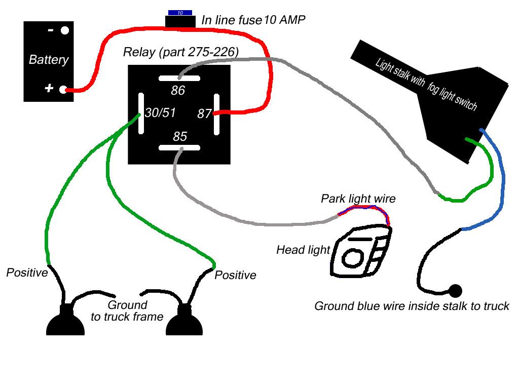 How To Wire 04 Xe Non Prewired Fog Light Kit Nissan Titan Forum - Fog Light Wiring Diagram