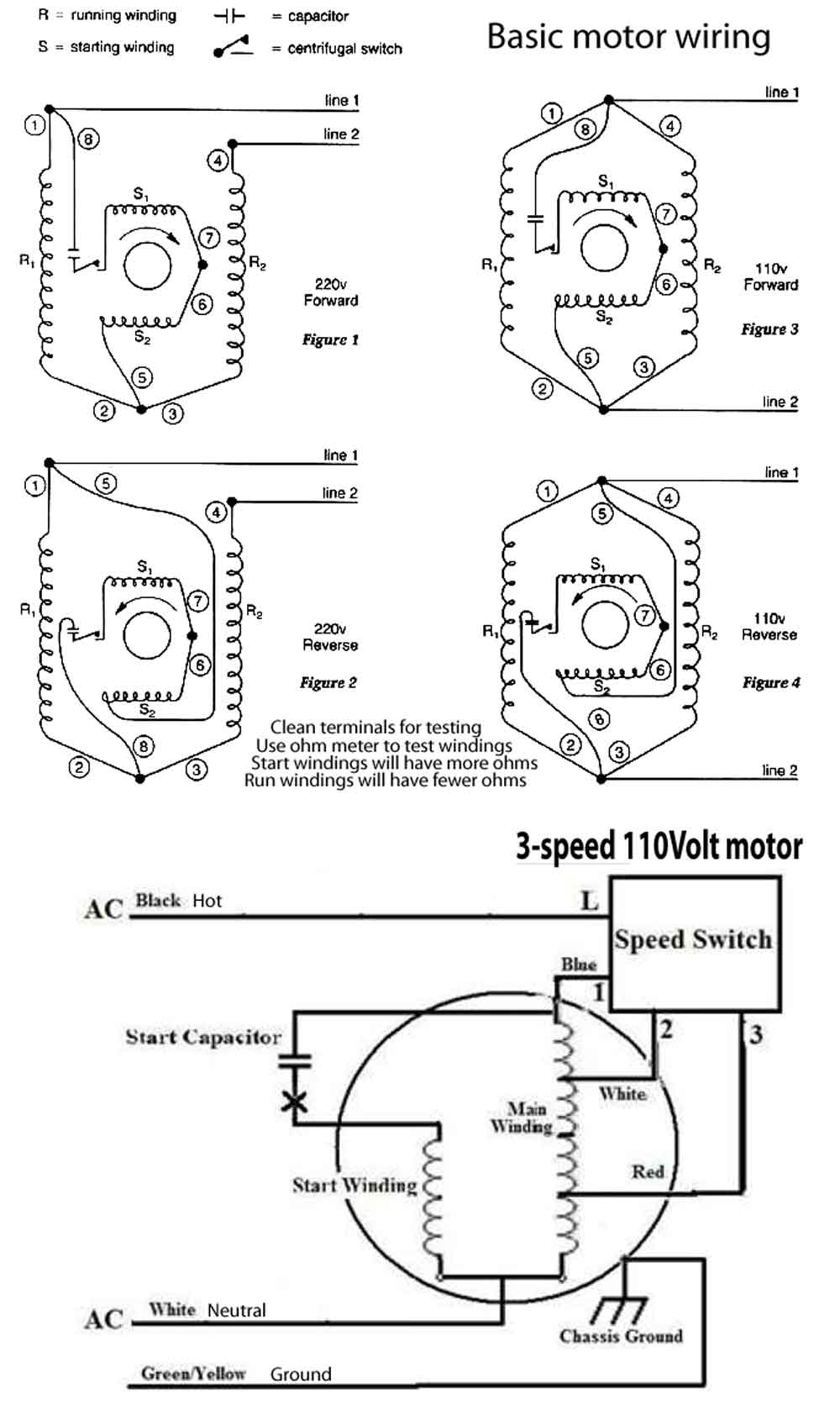 How To Wire 3-Speed Fan Switch - 3 Speed Fan Switch Wiring Diagram